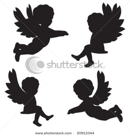 Силуэт ангела из бумаги - Самодельные
