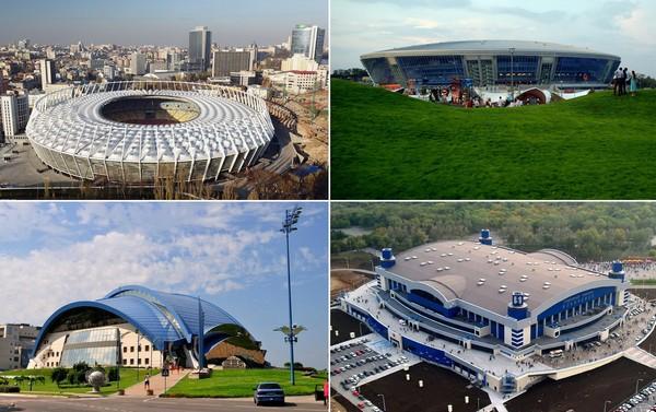 Лучшие спортивные сооружения Украины до переворота в 2013