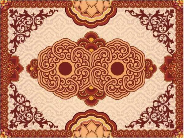 Традиционный китайский орнамент в векторе.  Chenese vector.