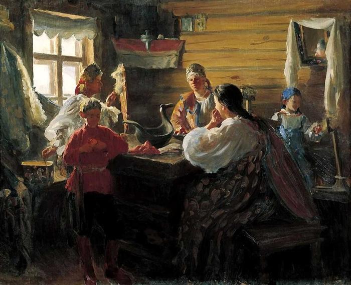 Куликов Иван Семёнович -Зимним вечером (700x570, 308Kb)