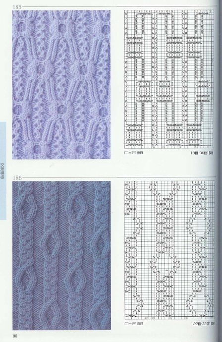 Схемы ажурных узоров для вязания на спицах