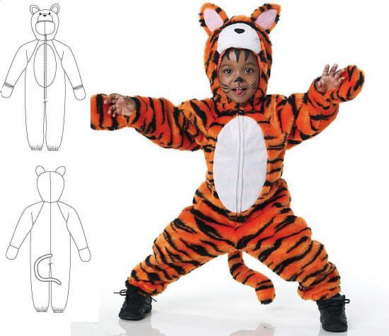 Выкройка костюма тигра для мальчика своими руками