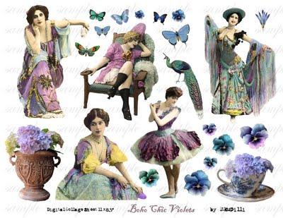 400 w Boho Chic Violets (400x309, 60Kb)