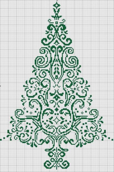 ажурная елка схема (464x700,