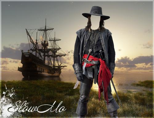 Photoshop, SlowMo, Templates for photoshop, Psd, Psd-costumes, Psd-исходники, Фотомонтаж, Шаблоны для фотошопа, Костюмы, Пират, Сабли, Корабль, Корсар/1321206869_Pirat_Cover (500x383, 103Kb)