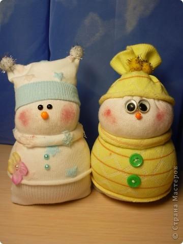 Снеговик своими руками из носка фото
