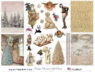 178 w Vintage Christmas Soft Pastels (400x305, 37Kb)