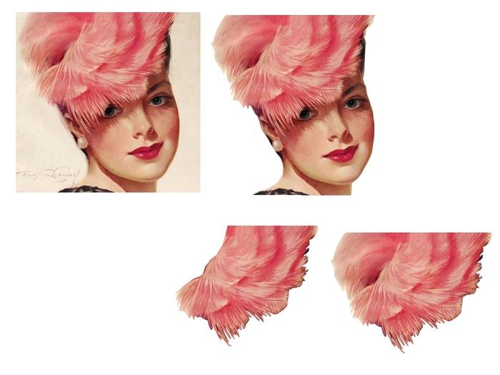 femme chapeau plume rose (700x525, 153Kb)