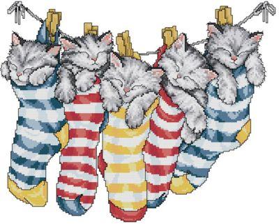 Рубрики: Схемы вышивки/Кошки