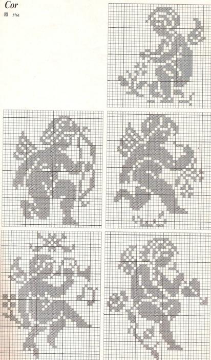 вышивка ангелы схемы (412x700,