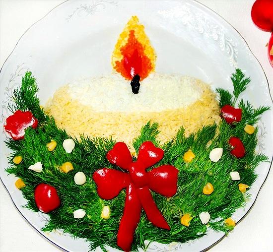 новогодняя свеча (550x508, 147Kb)