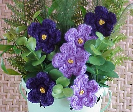 Вязание крючком салфетки и вазы