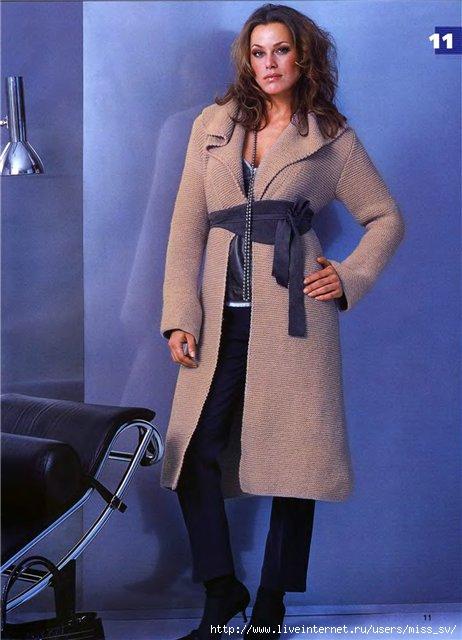 Описание: Вязаное пальто Вязание спицами, узоры патентные для кофт на...