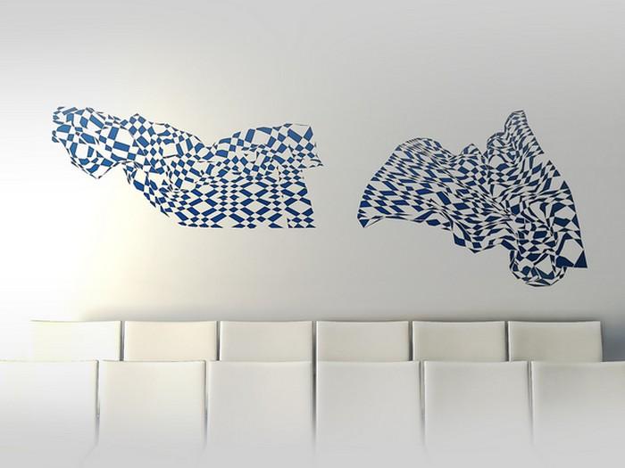 Стильные виниловые наклейки на обои от Екатерины Семенько