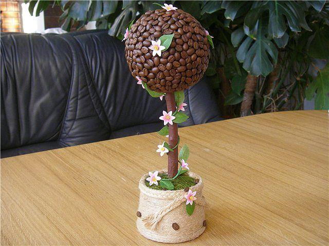 Кофейное дерево топиарий своими руками фото