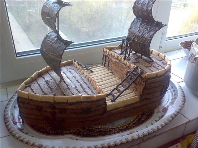 Торты в виде корабля рецепты фото