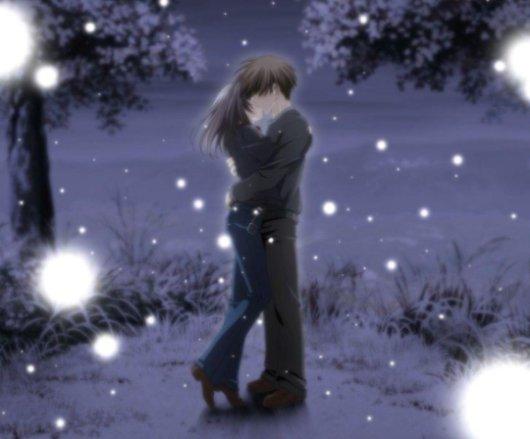 animeCoupleKissWinter (530x439, 30Kb)
