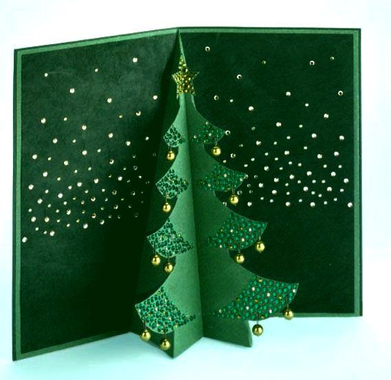 Объемные новогодние елки своими руками