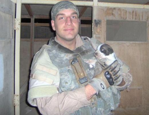 Щенок погибшего солдата по имени Герой приехал из Ирака в США
