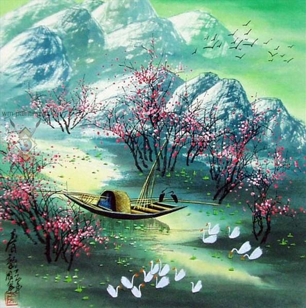 Весенний пейзаж. Миссис Жао (595x600, 125Kb)
