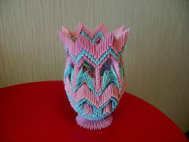3D Origami Origami Vase