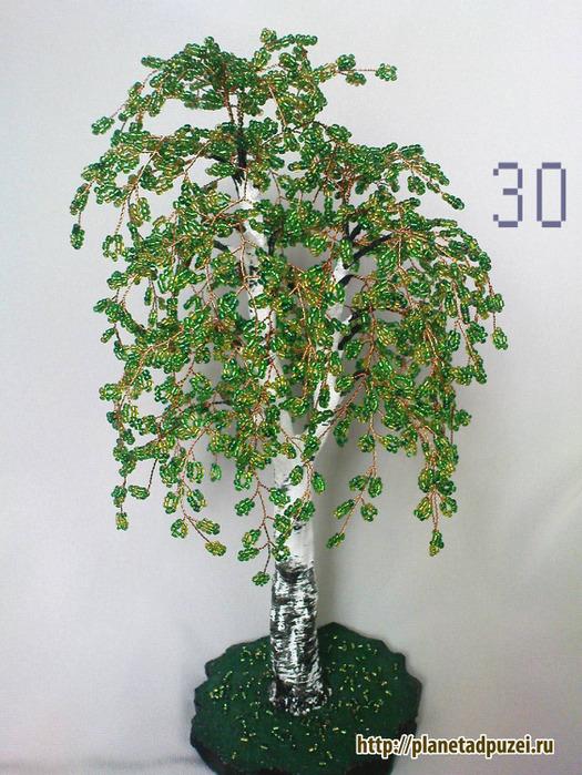 Дерево поделки бисер 19