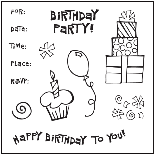 Раскраски happy birthday