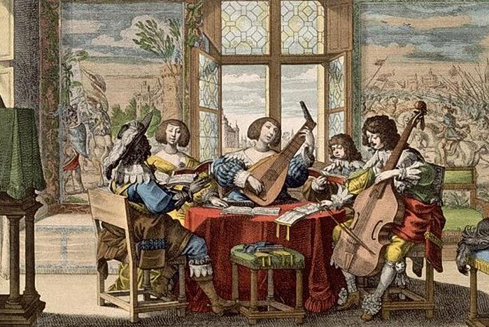 Bosse, Abraham (1602-1676) according to - Musical Society, 1635 (700x468, 324Kb)