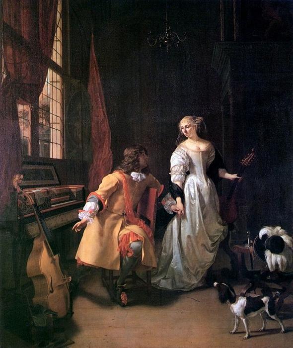 Verkolje, Jan (1650-1693) - Musical intermezzo (590x700, 328Kb)