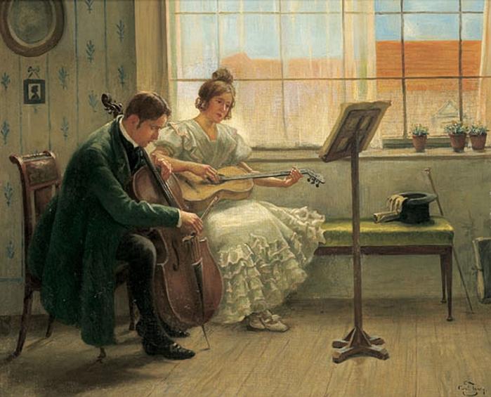 Zewy, Carl (1855-1929) - Chamber music entertainment (700x565, 284Kb)