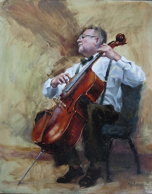Taaron Parsons.The Cellist (535x680, 341Kb)