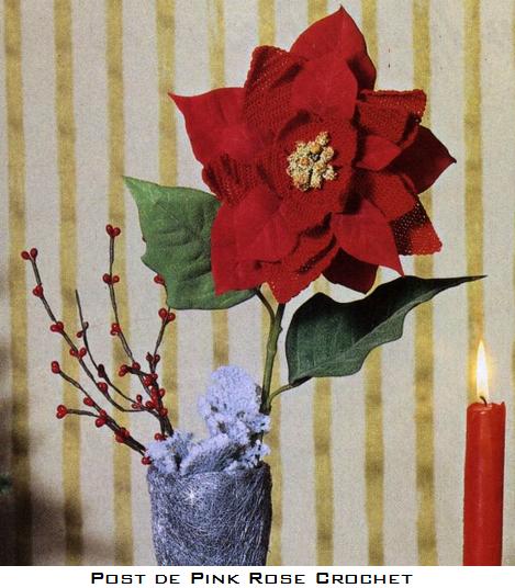 Natal Flor Ponsettia Croche - PRose Crochet (469x536, 503Kb)