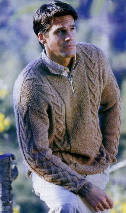 Пуловер с застежкой-молнией (414x700, 106Kb)
