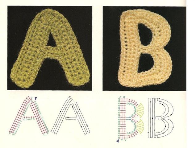 схема вязания алфавита