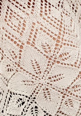 Lace Poncho Vogue Knitting Spring Summer 2011 motif (280x400, 52Kb)
