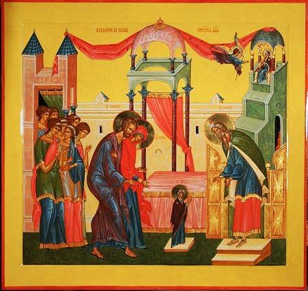 Введение во храм Пресвятой Богородицы. (450x425, 53Kb)