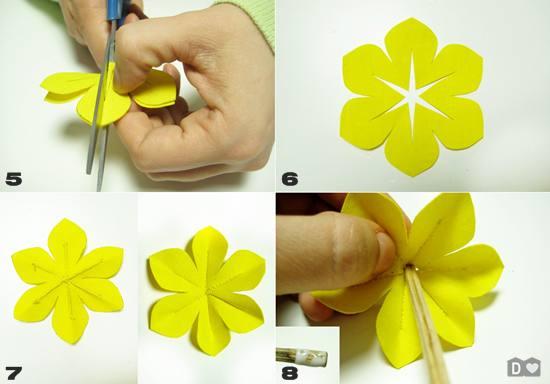 Сделать цветочки своими руками из бумаги