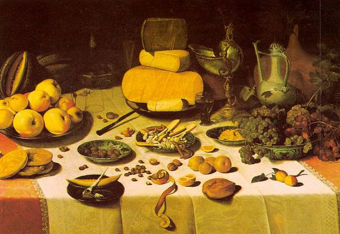 dijck1Laid Table, 1622, oil on wood, private collection, Amsterdam (700x482, 78Kb)