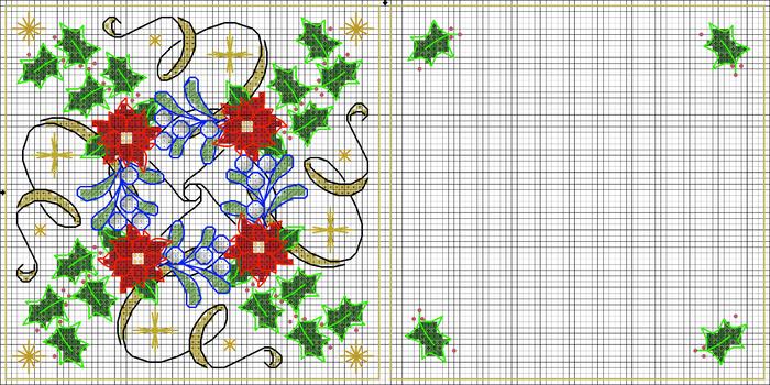 игольница рождество1 схема (700x350, 342Kb)