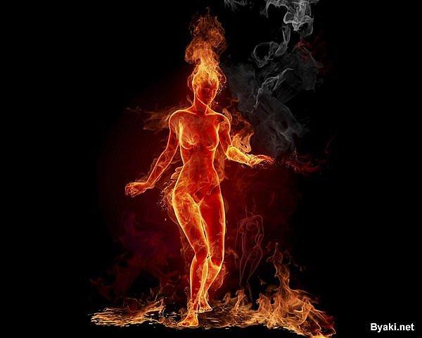 огненная девушка, картинка 3