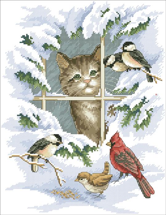 Часть 1 - Схемы вышивки кошек