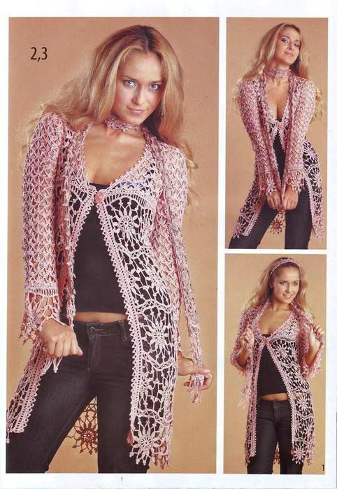 ВЯЗАНИЕ модно и просто. Вязаный креатив 2009 Модели класса люкс_3 (482x700, 75Kb)