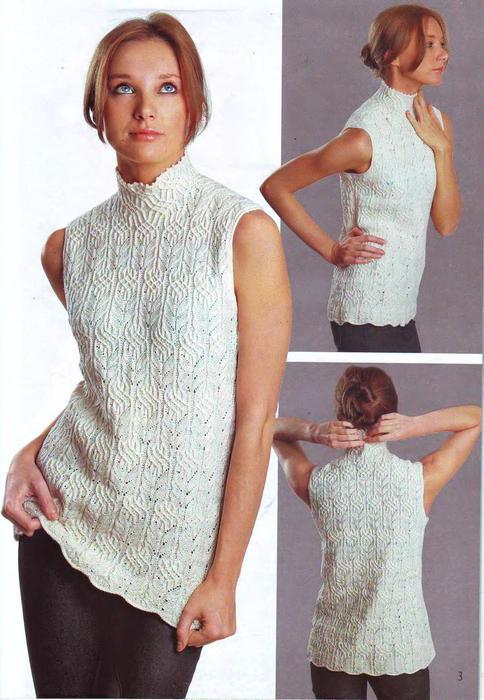 ВЯЗАНИЕ модно и просто. Вязаный креатив 2009 Модели класса люкс_5 (484x700, 58Kb)