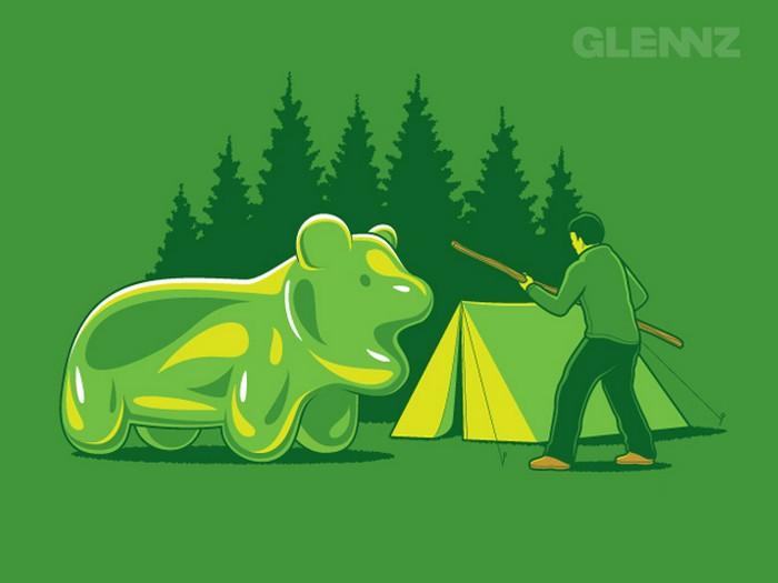 Прикольные принты на футболки от Glennz Tees