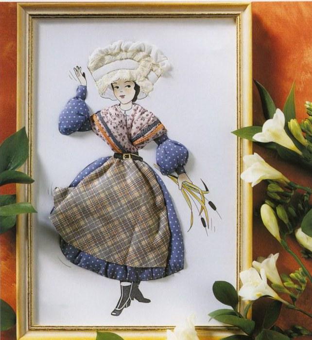 Объемные картины из ткани мастер класс