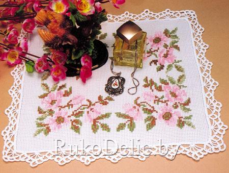 Салфетка с вышивкой крестом ''