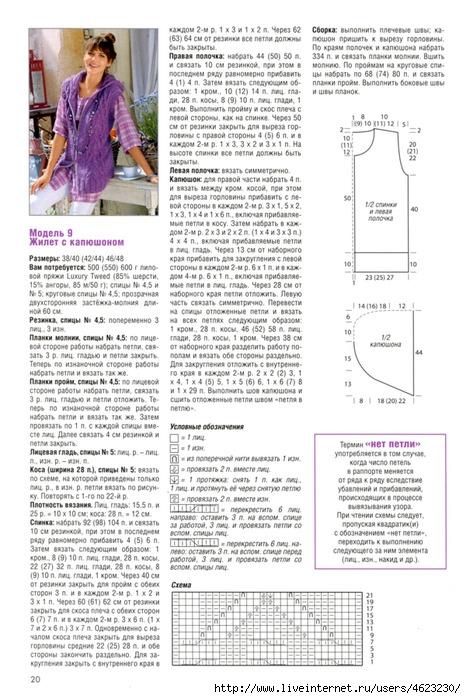 лансер жилет вязаный спицами для женщин схемы 2015 министром образования науки