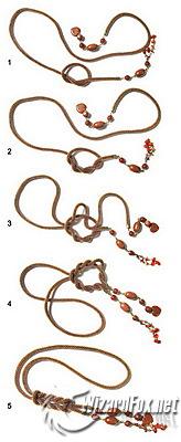 Как завязать узел на вышивке бисером
