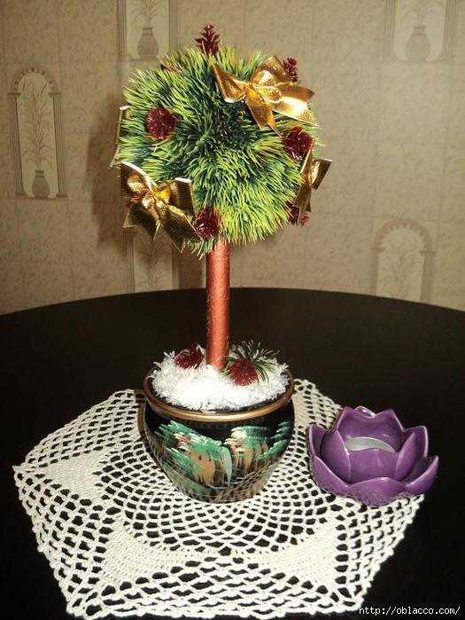 Дерево счастья новогоднее своими руками мастер класс пошагово фото 77