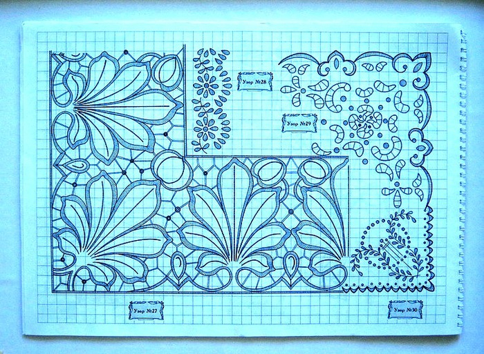 Вышивка ришелье схемы для скатерти 164